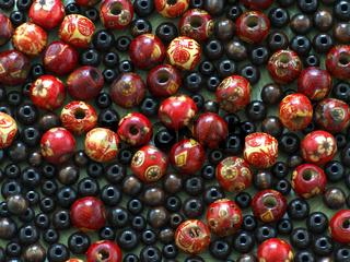 Asiatische Holzperlen / wooden beads
