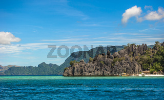 Scenic tropical island landscape, Coron, Palawan, Philippines