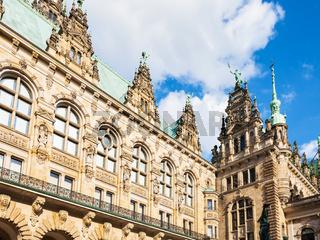 view of Hamburger Rathaus (Cown Hall) in Hamburg