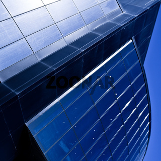 Modern violet office building windows