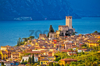 Town of Malcesine on Lago di Garda