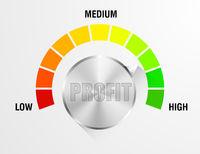 Profit Meter Illustration
