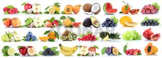Früchte Frucht Obst Collage Apfel Orange Banane Orangen Äpfel Beeren biologisch