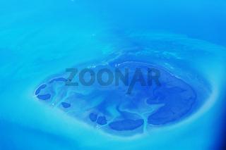 Tropical island above