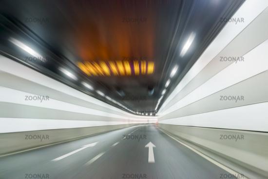 underwater tunnel interior