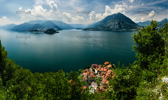 Top view on Lago di Como