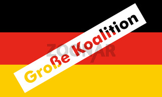 Grosse Koalition over German Flag
