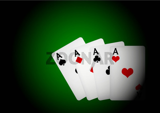 Cards on Table - Four Aces
