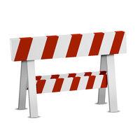 Red White Roadblock