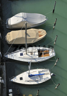 Boote von oben - Boats from above