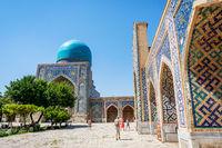 Atrium garden at Registan, Samarkand