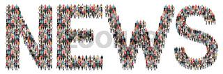 Online Zeitung Nachrichten News Leute Menschen People Gruppe Menschengruppe