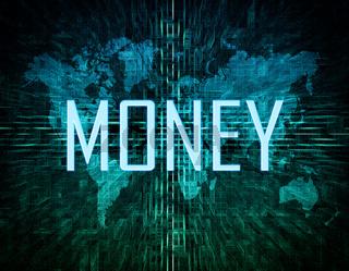 Money text concept