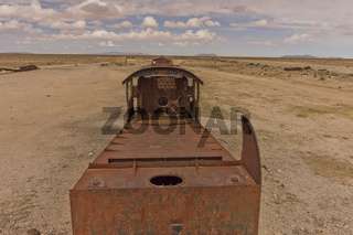 Train cemetery, Salar de Uyuni, Bolivia, South America