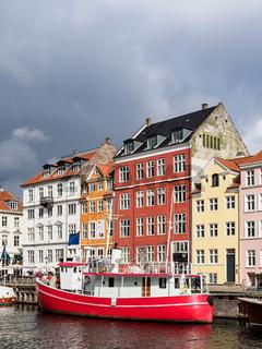 Nyhavn in der Stadt Kopenhagen, Dänemark