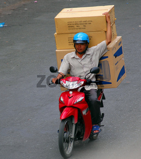 Transport mit Moped
