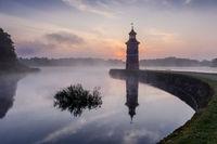 Moritzburg Lighthouse with jetty, saxony