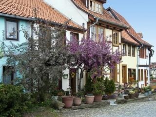 Fachwerkhäuser auf dem Münzenberg in Quedlinburg