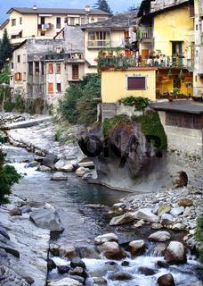 Chiavenna, Lombarei, Italien