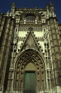 Tuer der Kathedrale. Sevilla