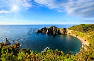 Sunshiny Del Silencio beach (Asturias, Spain).