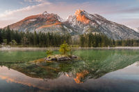 Dawn at lake Hintersee