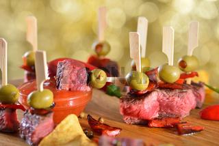 Pikante Steak-Tapas