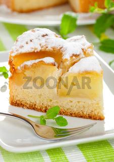 Kuchen mit Apfel / cake with apple