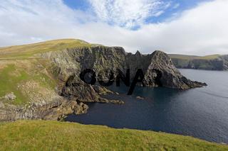 Cliff face, Mainland, Shetland Islands, Scotland