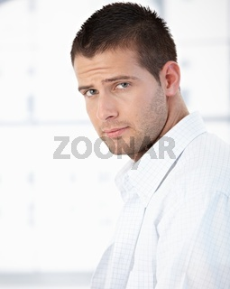 Morning portrait of handsome man in shirt
