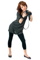 Beautiful young woman photographer