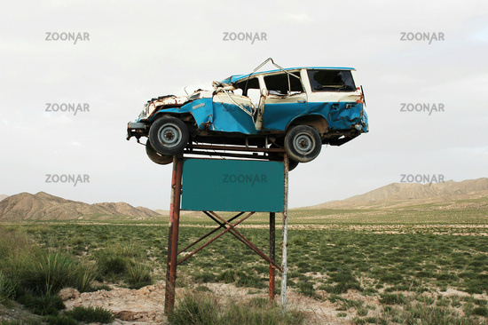 Traffic accident warning