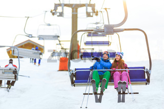 Young skiers