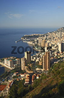Fürstentum Monaco an der Cote d'Azur