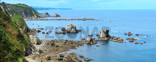 Atlantic Ocean coastline panorama (Spain).