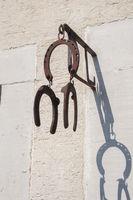 Horseshoes as Talisman in Mulfingen-Ailringen, Germany