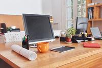Schreibtisch im Coworking Space