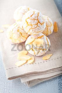 Almonds Cookies, Macaroon snowie peaks