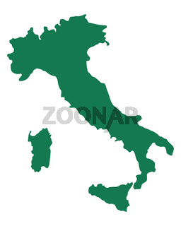 Karte von Italien - Map of Italy