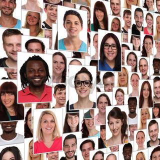 Hintergrund People multikulturell jung glücklich lachen Menschen Leute Integration Gruppe