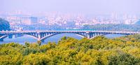 Metro bridge. Kiev, Ukraine