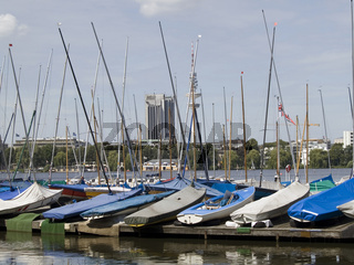 Segelboote auf der Alster