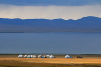 Tourist Yurt Camp at Song Kol Lake, Central Kyryzstan