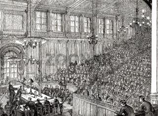 A lesson at the Conservatoire National des Arts et Métiers,  Paris, France, 19th century