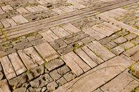 Wooden floor in village Drvengrad Mecavnik - Serbia