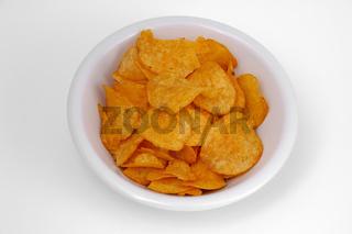 Schale mit Kartoffelchips - Potato chips