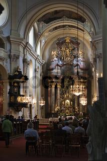 Altar in Mariadreieichen im Waldviertel, Niederösterreich, Österreich, Europa / altar in Mariadreieichen in the Waldviertel Region, Lower Austria, Austria, Europe