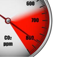 CO2 gauge high emission