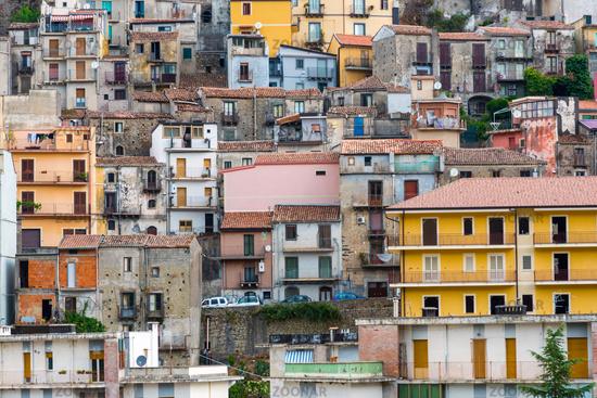 Detail of the old town of Castiglione di Sicilia near Etna vulcano, Italy