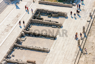 Birds eye view of tourists in Zadar